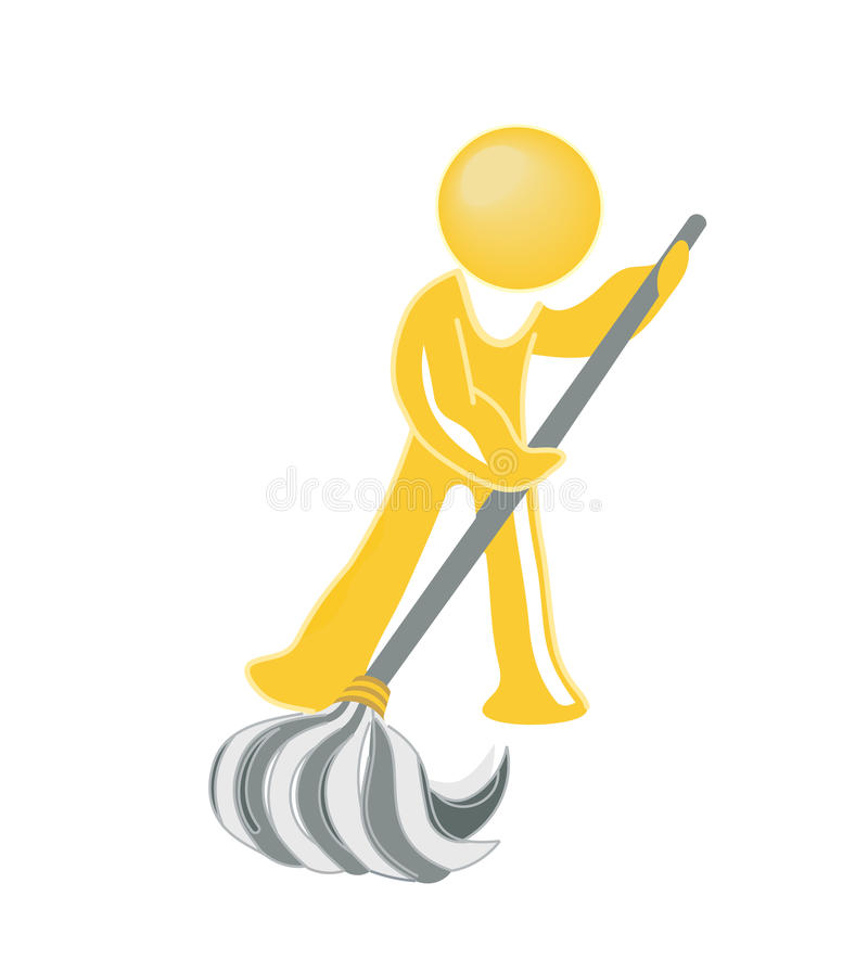 Download Janitor icon stock vector. Image of maintenance, infectious - 10811409