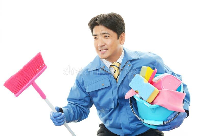 Janitorial schoonmakende dienst royalty-vrije stock fotografie