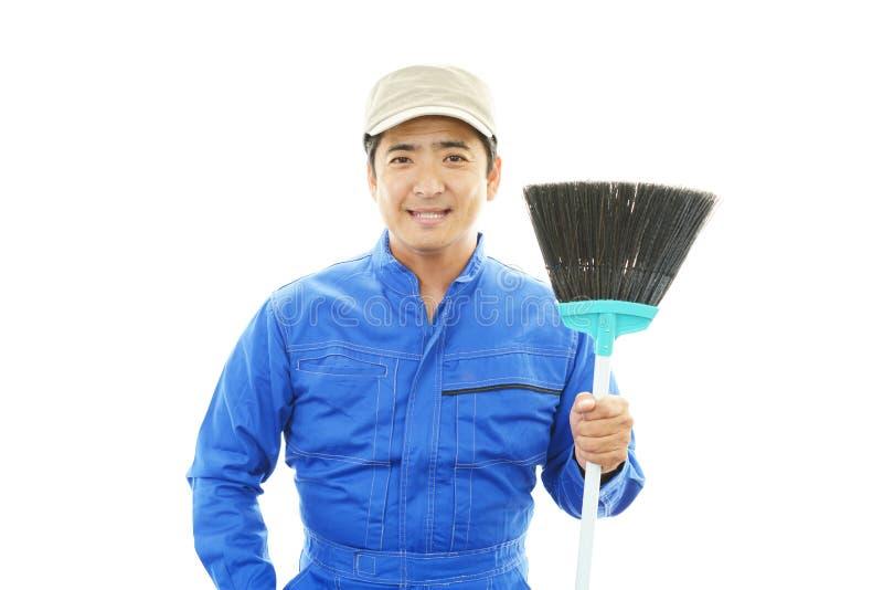 Janitorial schoonmakende dienst stock fotografie