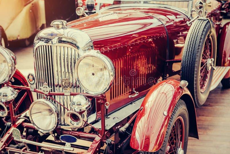 Janitors car. Beautiful retro style transport exhibition. Vintage transport retro car. Beautiful Exhibition Transport stock photo