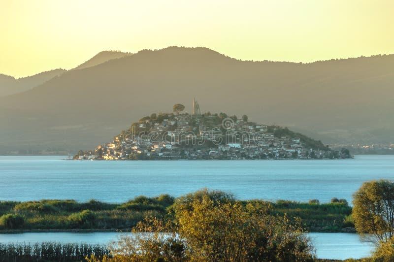 Janitzio海岛, Patzcuaro,米却肯州,墨西哥 免版税库存照片