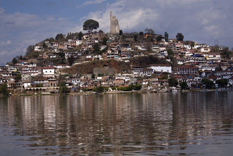 Janitzio Insel Patzcuaro See Mexiko lizenzfreie stockfotografie