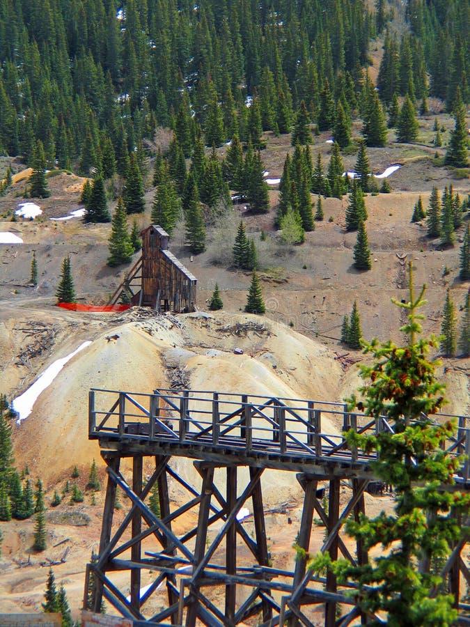 Jankeska dziewczyny kopalnia w Kolorado zdjęcie stock