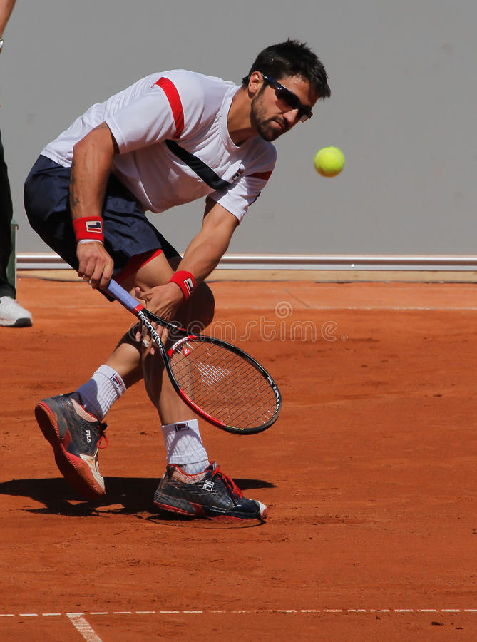 janko tipsarevic球员的网球 免版税库存照片