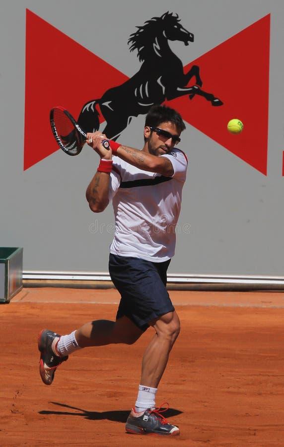 janko tipsarevic球员的网球 免版税库存图片