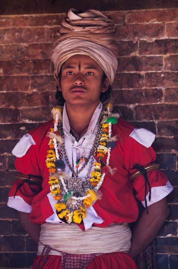 Jankri (Shaman, guérisseur de Nepali) image libre de droits