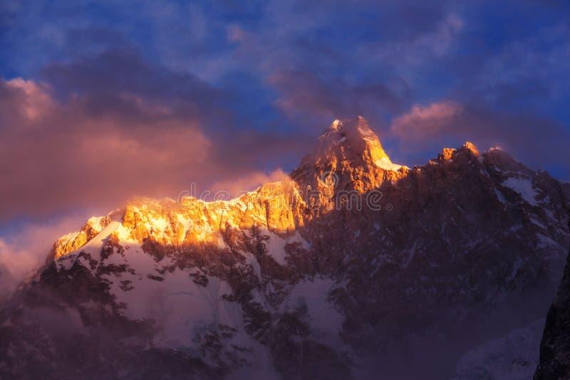Jannu på solnedgången arkivfoto