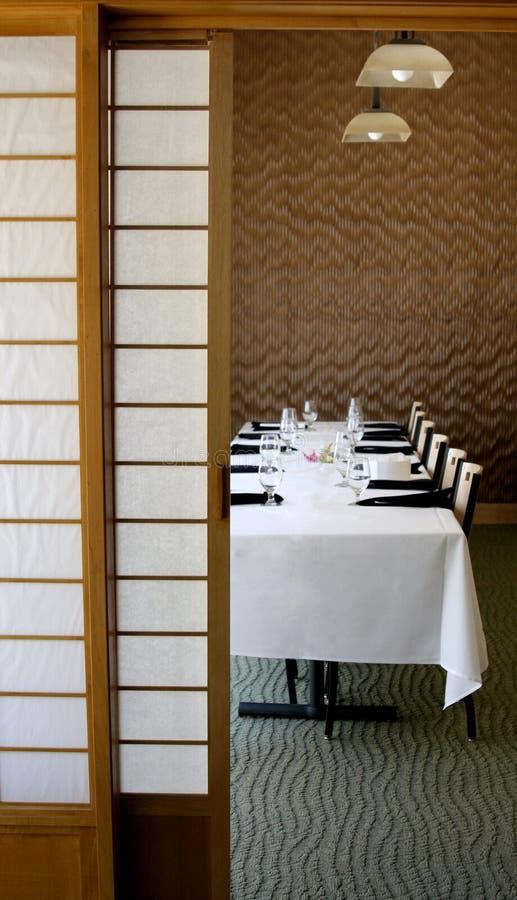 Jantando Stlye japonês foto de stock royalty free