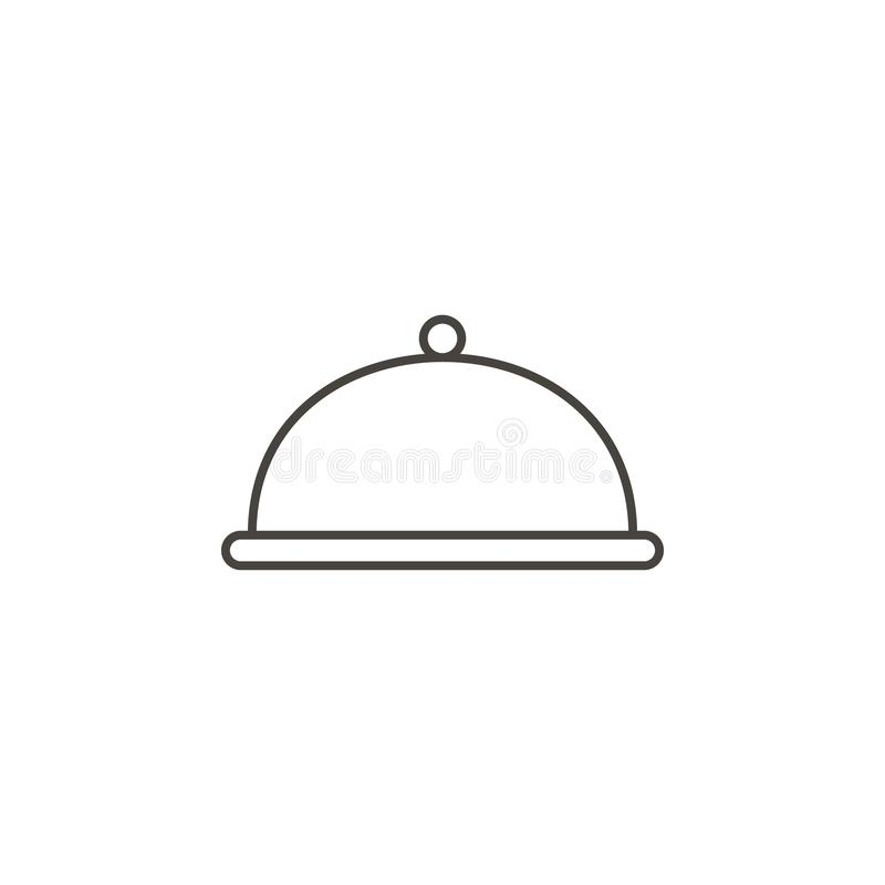 Jantar, ícone do dishware Ilustra Jantar, ícone do dishware Conceito da bebida ilustração do vetor