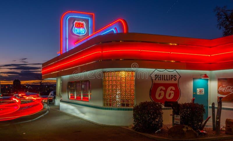 Jantar 66 Albuquerque, nan?metro fotografia de stock royalty free