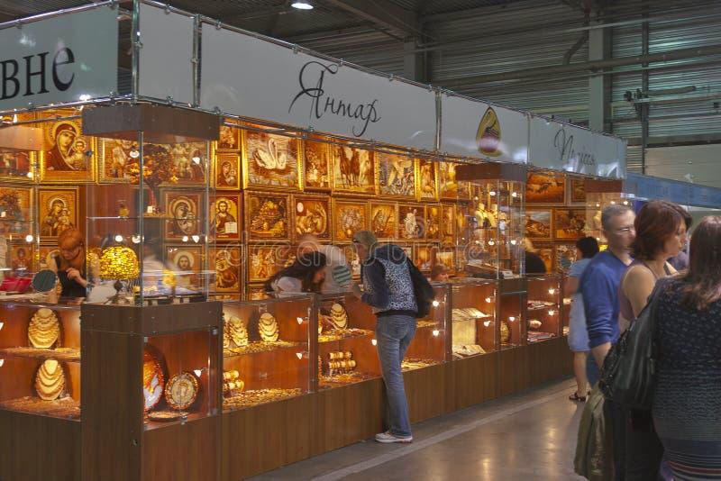 Jantar (Amber) Polessye Rivne Company cabine stock foto's