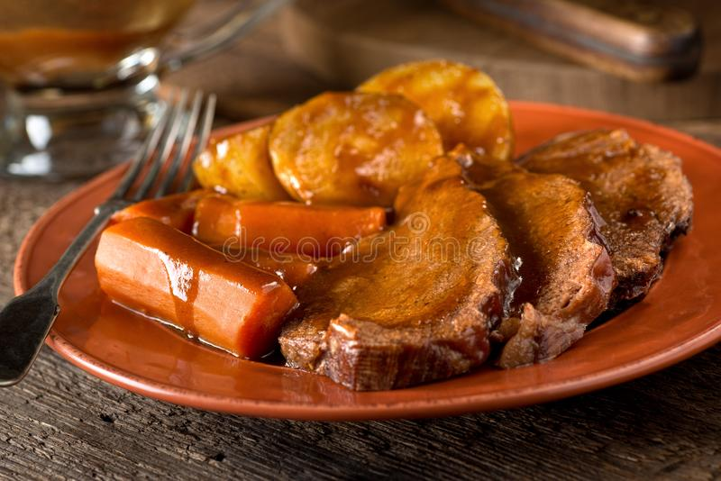 Jantar da carne assada fotos de stock royalty free