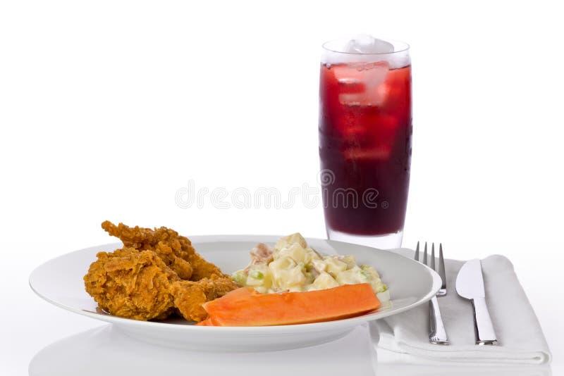 Jantar da galinha fritada imagem de stock royalty free
