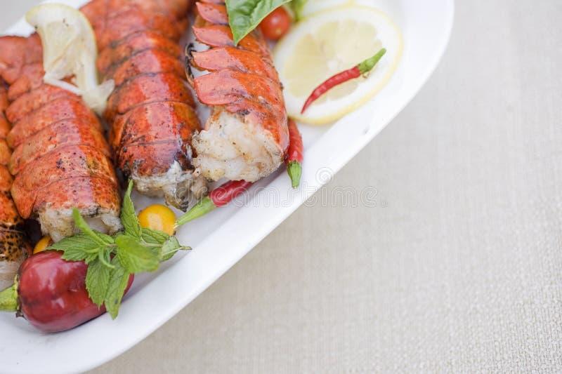Jantar da lagosta foto de stock