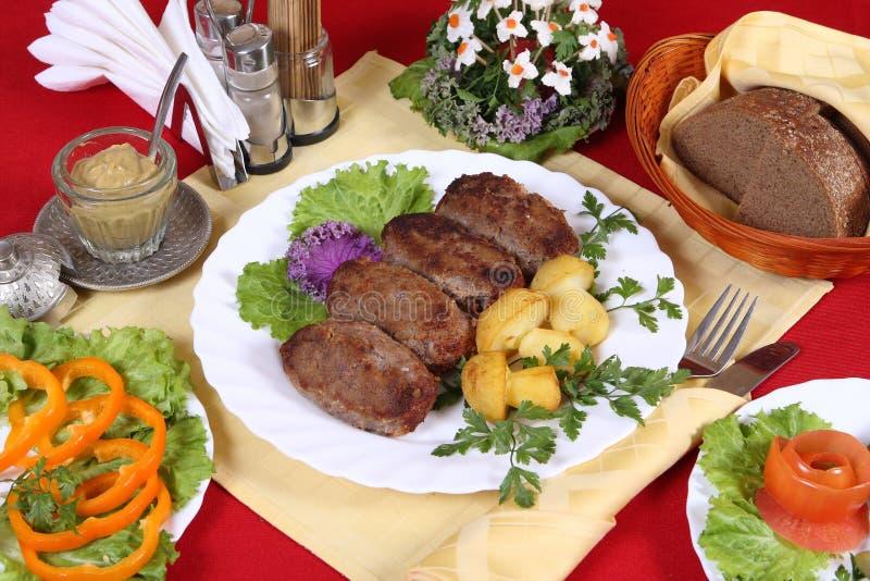 Jantar de nutrição fotos de stock