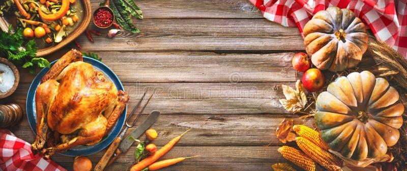Jantar de Turquia da acção de graças foto de stock royalty free
