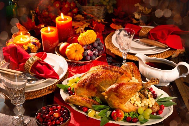 Jantar de Turquia da acção de graças foto de stock