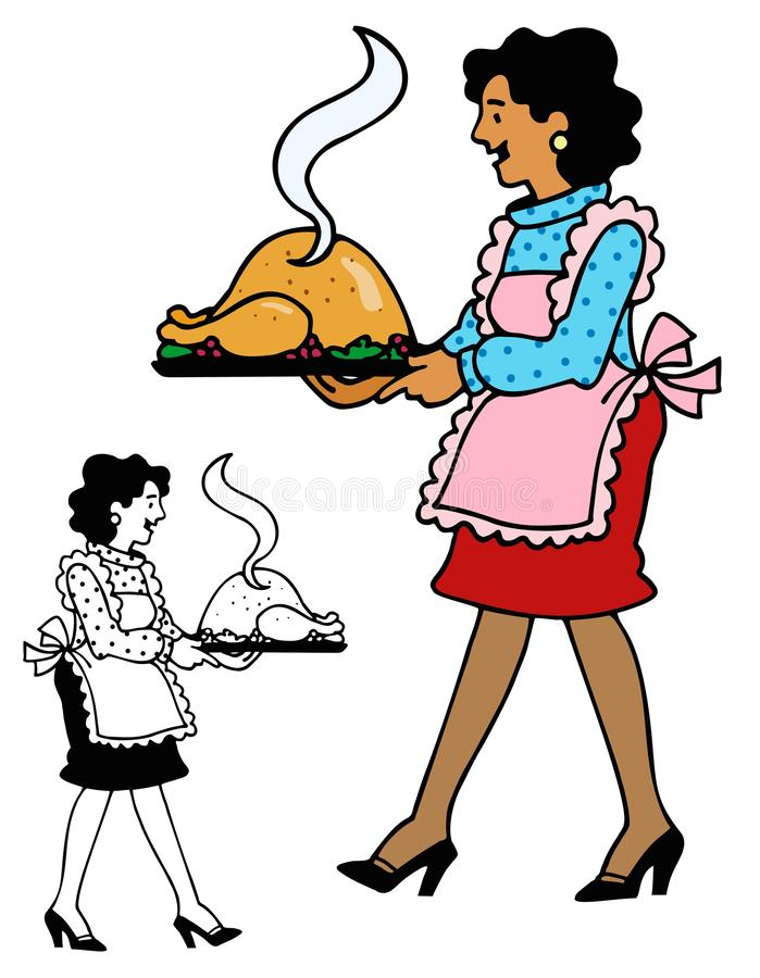 Jantar de Turquia quente do forno ilustração stock