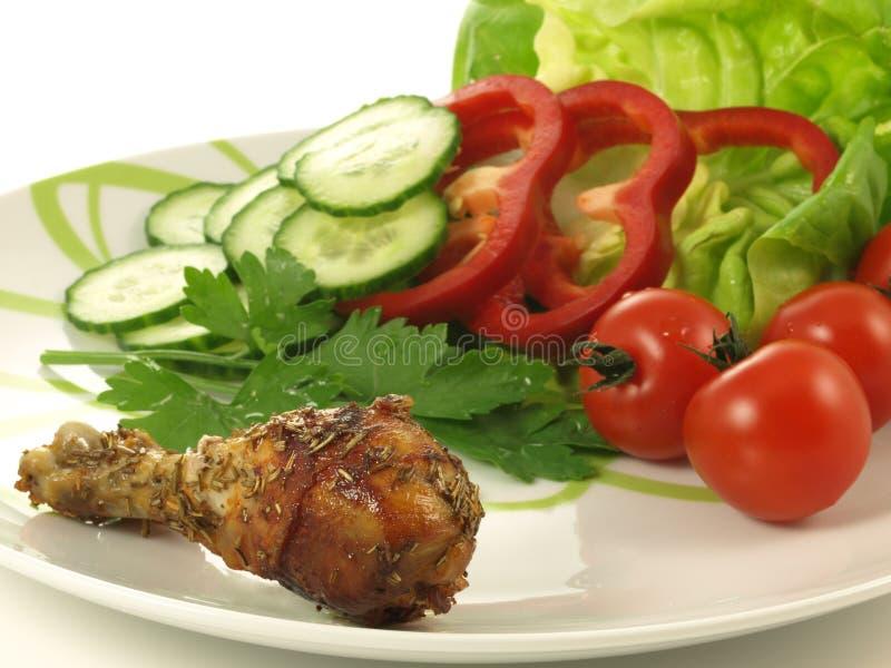 Jantar dietético, isolado imagem de stock