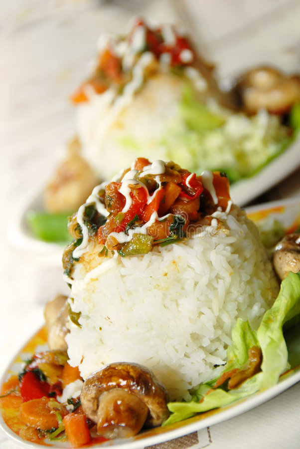 Jantar do arroz fotos de stock royalty free