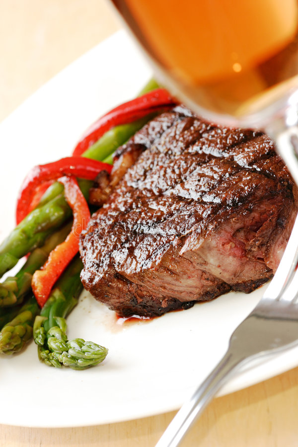 Jantar do bife imagem de stock royalty free