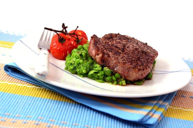 Jantar do bife da pimenta imagens de stock royalty free