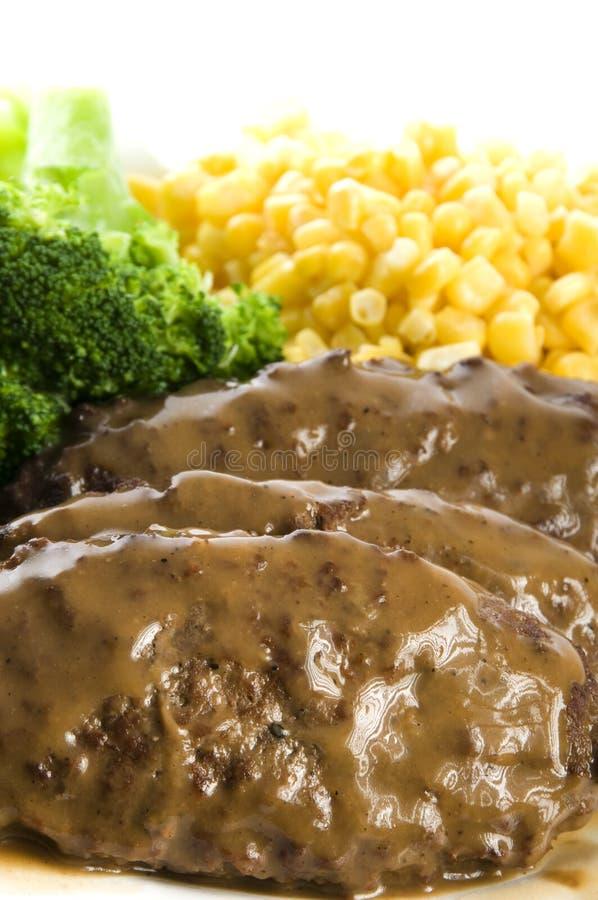 Jantar do bife de Salisbúria fotos de stock royalty free