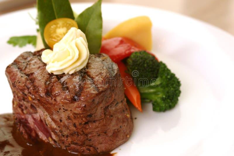 Jantar do bife do Tenderloin imagem de stock