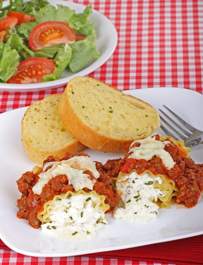Jantar do Lasagna fotos de stock