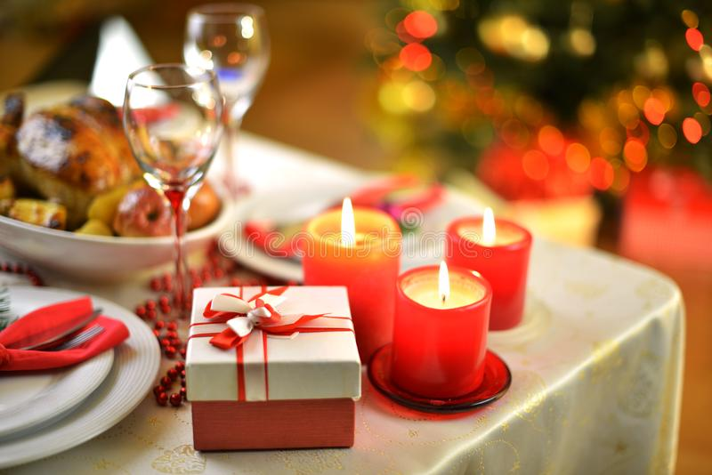 Jantar do Natal imagens de stock royalty free
