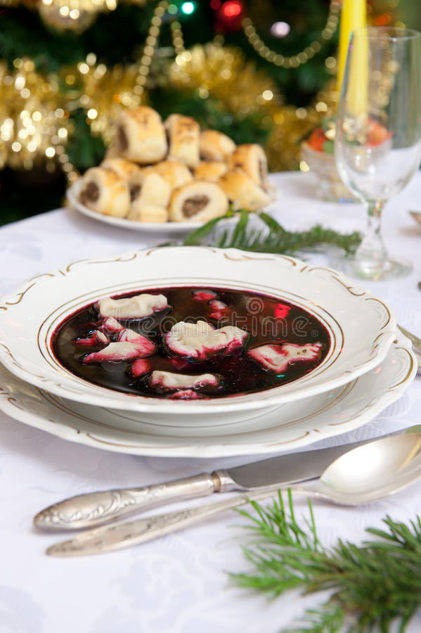 Jantar do Natal foto de stock royalty free
