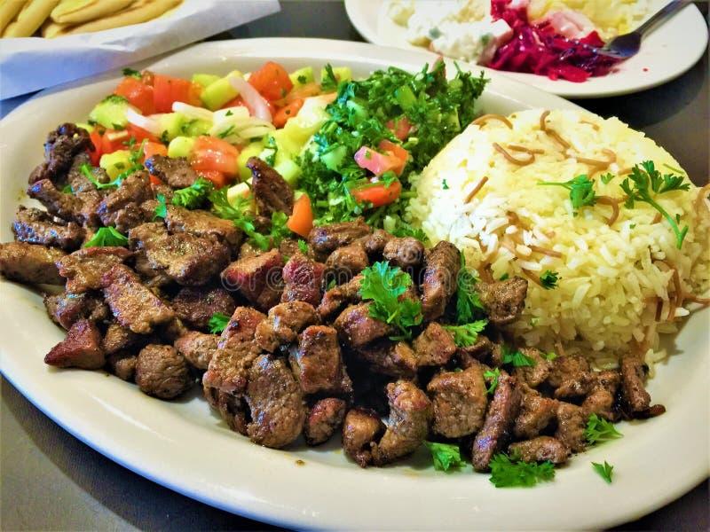 Jantar do Oriente Médio do cordeiro imagem de stock royalty free