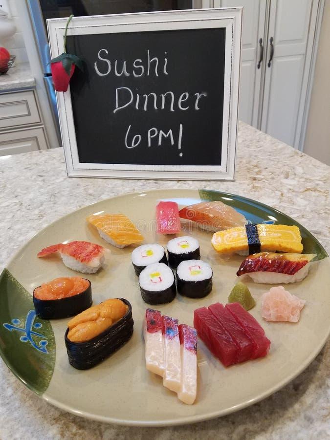 Jantar do sushi fotografia de stock royalty free