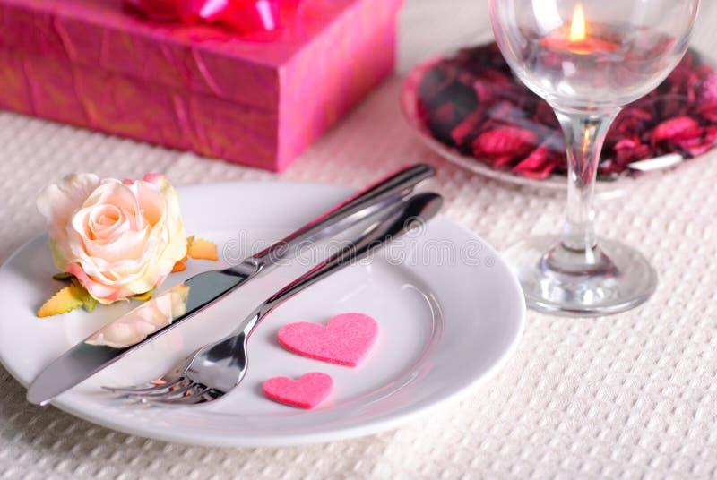 Jantar do Valentim foto de stock