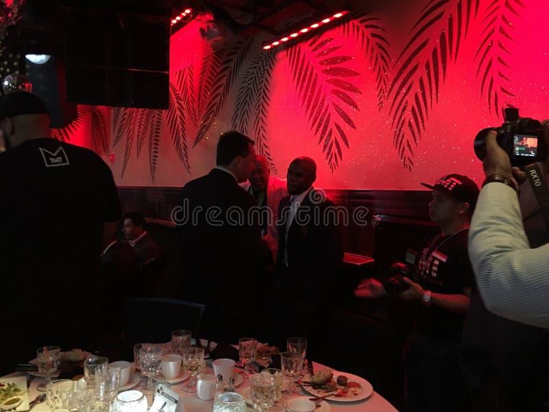 Jantar dos escritores de Floyd Mayweather Awarded At Boxing da estrela mundial do encaixotamento imagem de stock royalty free