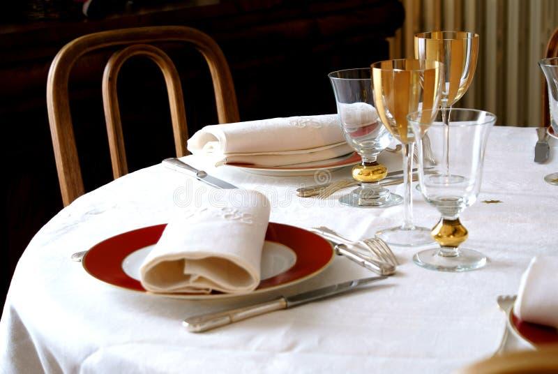 Jantar elegante fotografia de stock royalty free