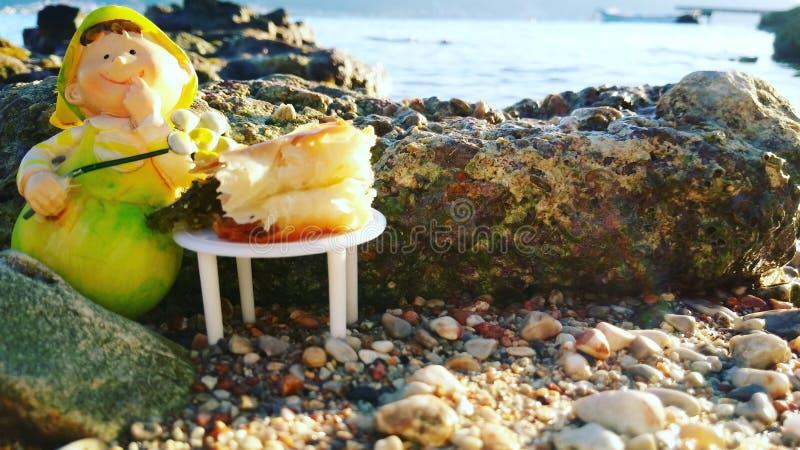 Jantar feericamente da praia fotografia de stock