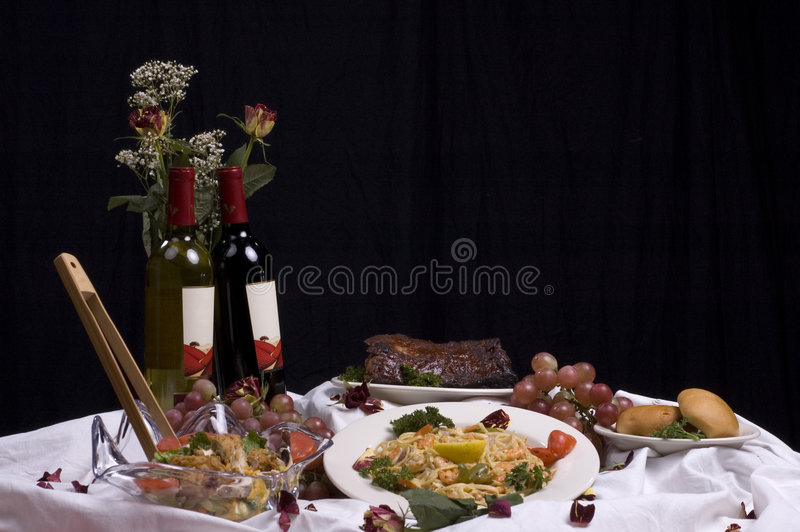 Jantar fino horizontal fotos de stock royalty free