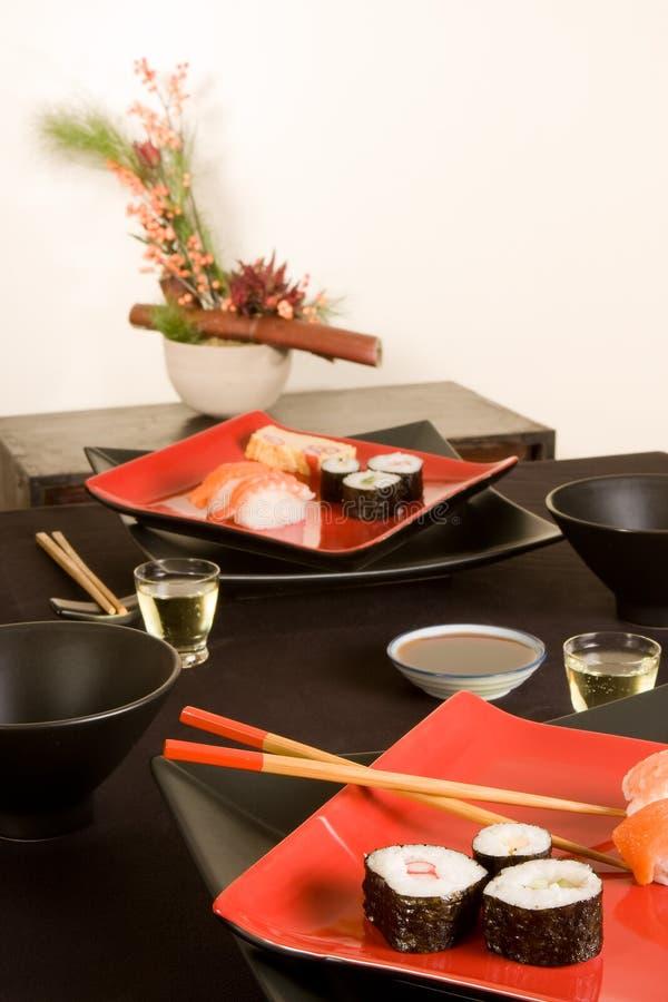 Jantar japonês imagens de stock royalty free