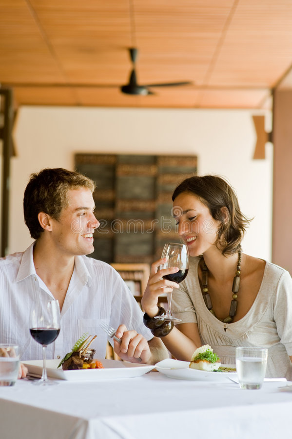 Jantar junto imagens de stock royalty free