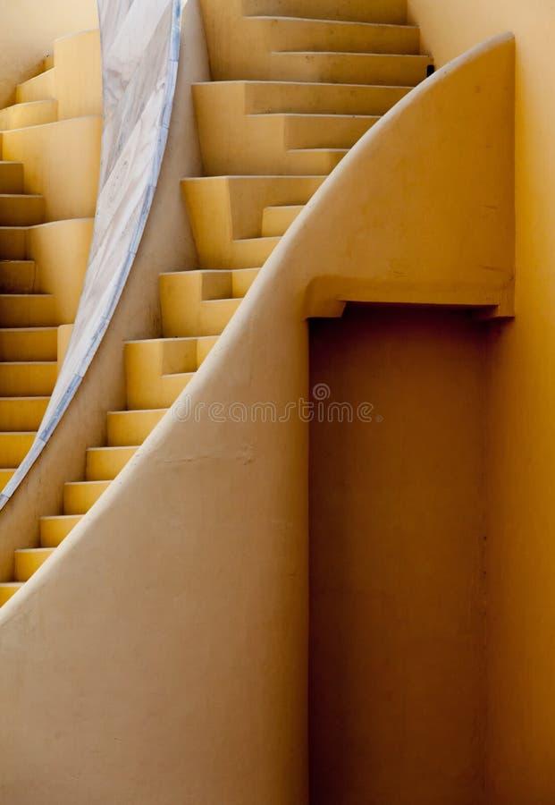 Jantar Mantar台阶在斋浦尔 免版税库存照片