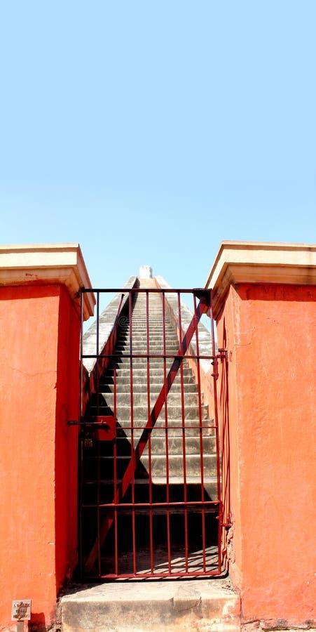 jantar mantar台阶 免版税库存照片
