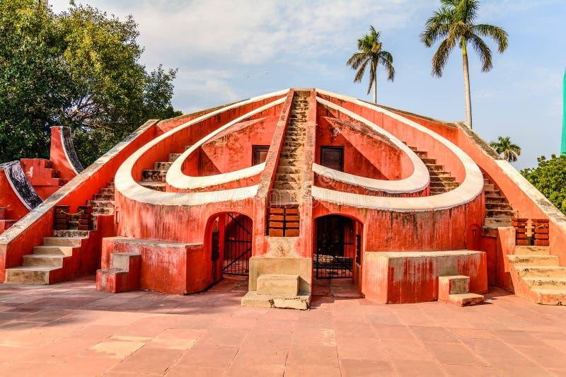 Jantar Mantar在新德里 免版税库存图片