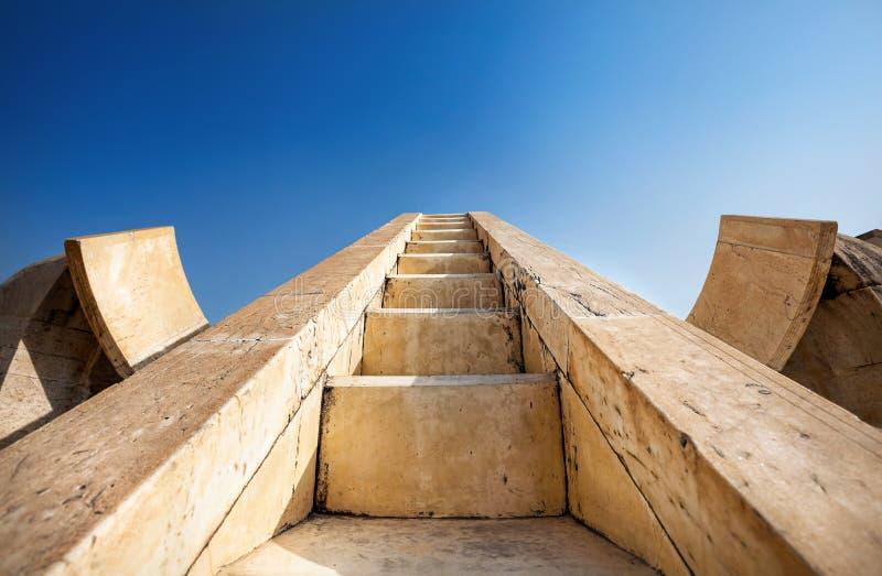 Jantar Mantar观测所在斋浦尔 免版税库存图片
