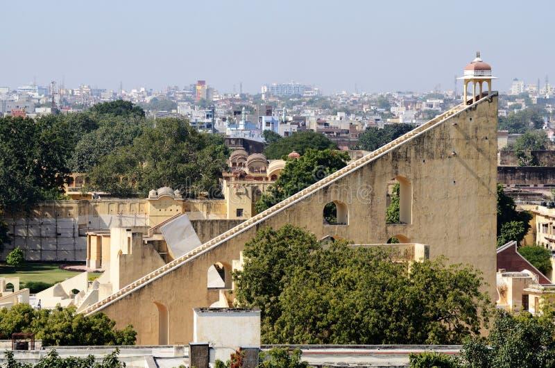 Jantar Mantar,中世纪观测所在斋浦尔,印度 库存图片
