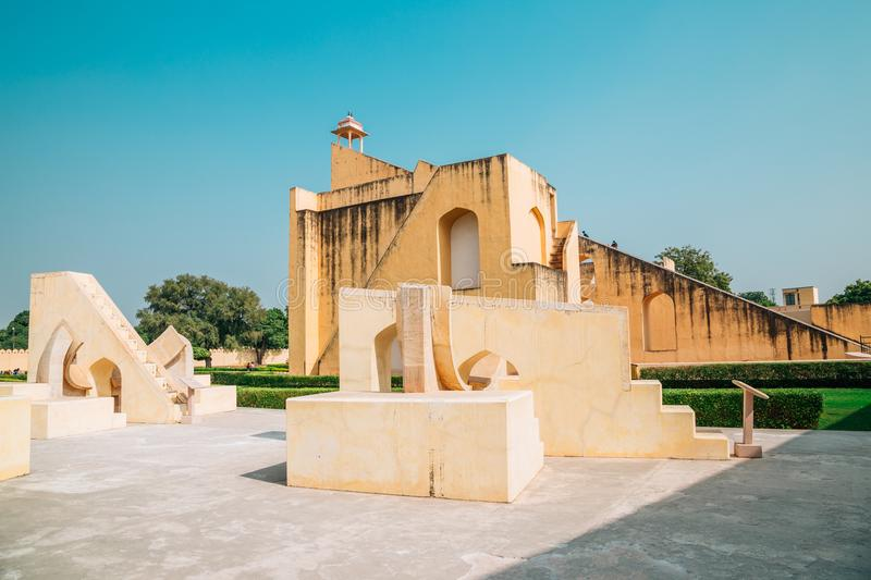 Jantar Mantar in Jaipur, India. Ruins royalty free stock photo
