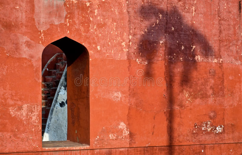 Jantar Mantar okno obraz stock