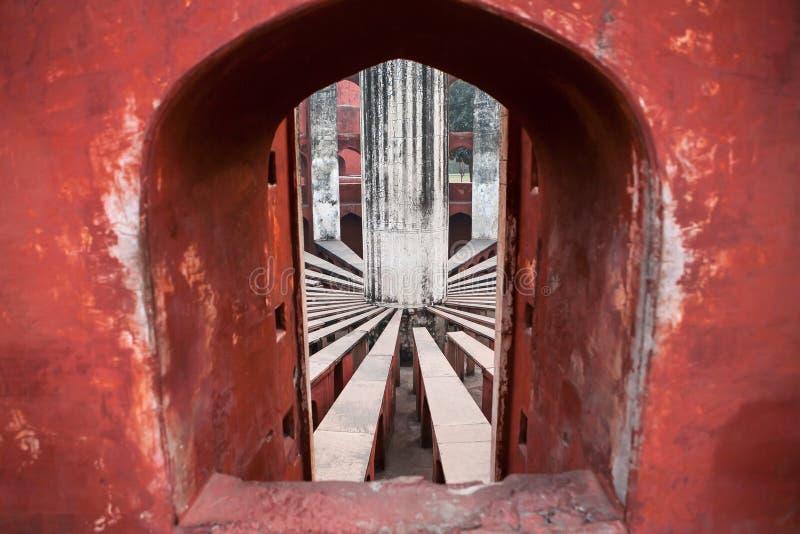 Jantar Mantar, oud astronomisch waarnemingscentrum royalty-vrije stock fotografie
