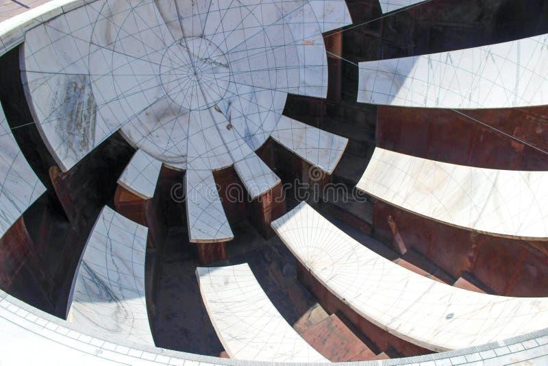 Jantar Mantar-waarnemingscentrum in Jaipur, Rajasthan, India stock afbeelding