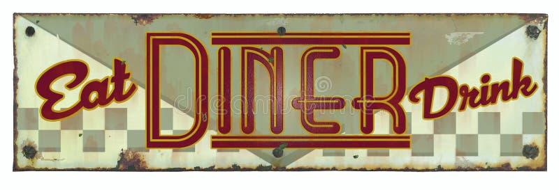 Jantar retro Tin Sign fotos de stock